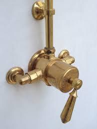 Barber Wilson Unlacquered Brass Faucet by Velvet U0026 Linen Bathrooms