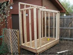 lean to shed plans easy to build diy shed designs