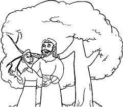 Zacchaeus Talking Jesus Coloring Page