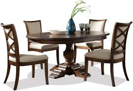 Riverside Furniture Lawrenceville 5 Piece Round Table & XX Side