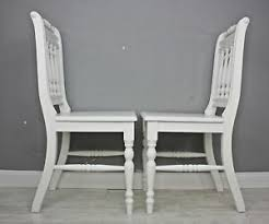 details zu 2x stuhl holzstuhl küchenstuhl otto massiv weiß vollholz holz landhaus set