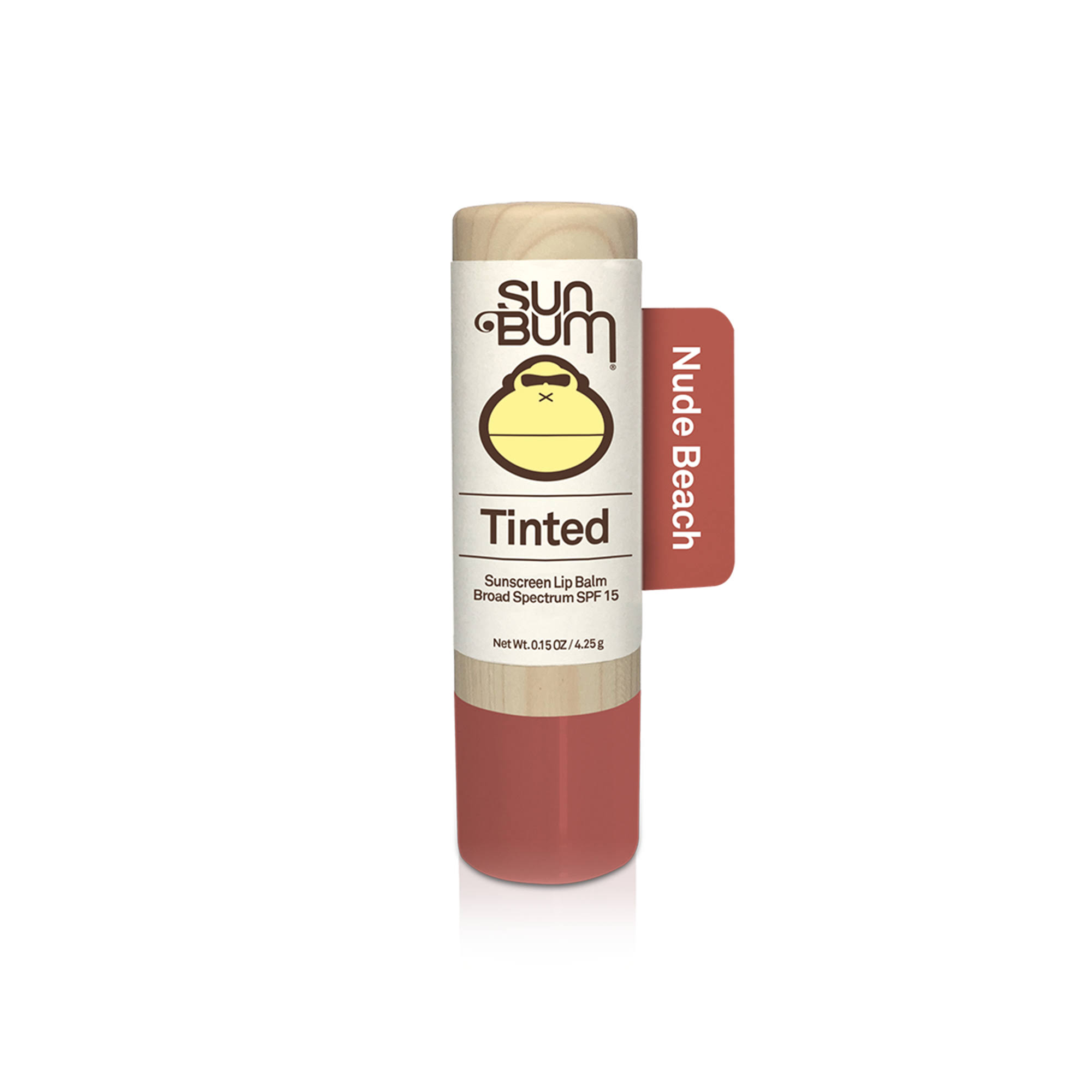 Sun Bum Tinted Lip Balm, Sunscreen, Nude Beach, Broad Spectrum SPF 15 - 0.15 oz