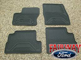 Lund Rubber Floor Mats by Brilliant 2013 Thru 2017 C Max Oem Genuine Ford Rubber All Weather