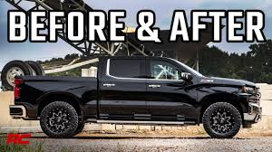 100 Aftermarket Chevy Truck Wheels 2019 Chevrolet Silverado Z71 2 Inch Leveling Kit Before After