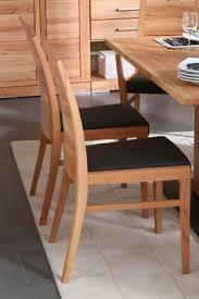 massivholz stuhl kernbuche geölt lederpolster schwarz