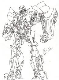 Download Coloring Pages Bumblebee Transformer Page Transformers Eassume Picture