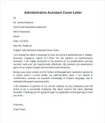 Examples Of Administrative Assistant Resume Position Cover Letter Example Sample
