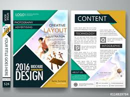Brochure Design Template VectorBusiness Flyers Cover Report Summer Magazine Poster TemplateCover Book