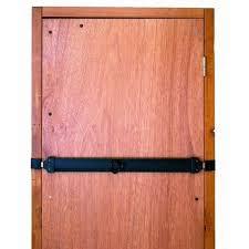 barre securite porte entree barre de sécurité en acier zingué pour portes de garage l 73 cm