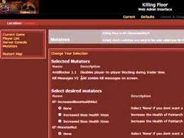 killing floor webadmin interface youtube
