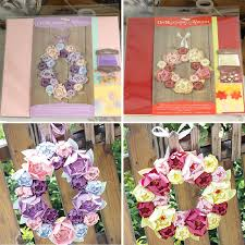 2 Designs Of 9 Handmade Paper Wreath For Home DecorationDIY Craft Blooming