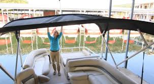 Aqua Patio Pontoon Bimini Top by Sun Tracker Party Barge 24 Xp3 The Bimini Top Is Color Matched To