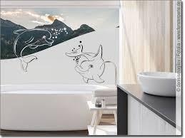 sichtschutz zwei delphine fensterfolie fürs bad
