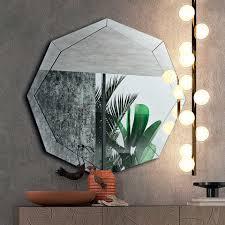 design spiegel in verspiegeltem kristall finish made in italy bolina