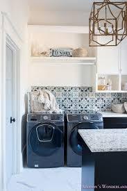cement tile backsplash laundry room cement tile backsplash blue
