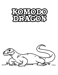 Komodo Dragon K Is For Coloring Pages
