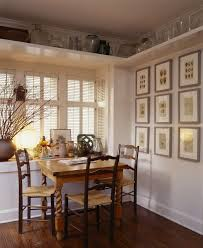 Rustic Shelf Decorating Ideas Kitchen Craftsman With Light Wood Table Painted White Trim Chair Rush