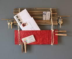 Wall Decor Red Bamboo Organizer Stunning Handmade Design