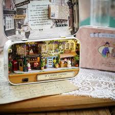 Miniatura Wooden Dollhouse Furniture Diy Doll House Miniature