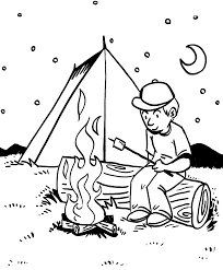 Camping Coloring Sheets Pictures