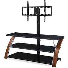 Artificial Christmas Tree Stand Walmart by Whalen Brown Cherry 3 In 1 Flat Panel Tv Stand For Tvs Up To 65
