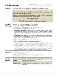 Resume Objectives Sample For Information Technology Best Easy