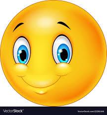 Cartoon Emoticon Smile On Transparent Background Vector Image