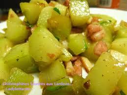 cuisiner les christophines christophines sautées aux lardons ladylettante
