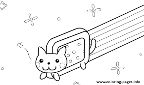 Nyan Cat Template By Kixfe Coloring Pages