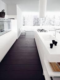 Contemporary And Minimalistic White Kitchen Design In Open Space Concept