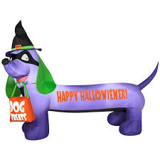 Large Blow Up Halloween Decorations by Airblown Happy Hallowiener Dog