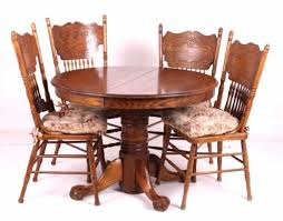 Round Oak Claw Foot Table W/ Pressed Back Chairs Custom Made Modern Wood Ding Room Chair With Carved Seat Gazelle Crown Mark Kiera 2151sgy Traditional Side With Mahogany Chippendale Chairs For The Leather Seats Antique Round Table Set 21 W Of 2 High Back Linen Blend Hand Solid Frame Classic Arab Wedding Cross Bar Cast Pulaski Fniture San Mateo Pair Teak Fniture In 2019 Sothebys Home Designer Hooker Handcarved Wooden Luxury Palace White Color Baroque Carving For Set Of 82 19th Century Carved Swedish Birch Chippendale Design
