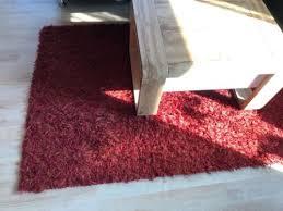 langflor teppich rot wohnzimmerteppich