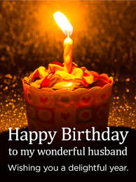 Wishing You a Delightful Year Happy Birthday Card for Husband