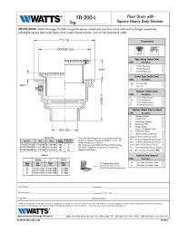 watts fd 200 l user manual 1 page