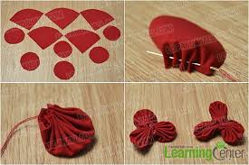 Make Two Small Fabric Flowers
