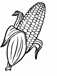 Vegetables Corn Coloring Page 7