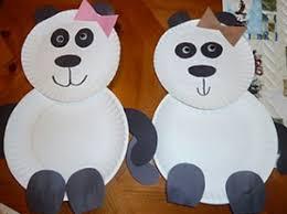 Panda Bear Paper Plate Craft