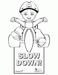 Bicycle Safety Coloring Sheets Printable