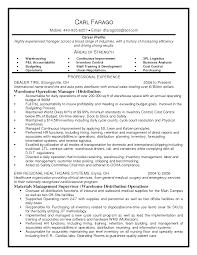 Sample Resume For Logistics Manager
