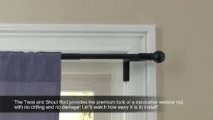 Umbra Curtain Rod Target by Twist U0026 Shout Curtain Rod Black Room Essentials Target