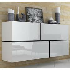 details zu kommode sideboard lock weiß schwarz glanz wohnzimmer schrank esszimmer anrichte