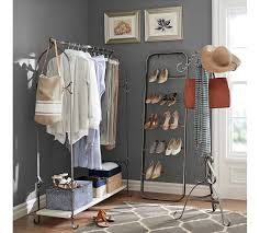 Best New York Closet Clothes Rack Pottery Barn For Clothing Nyc