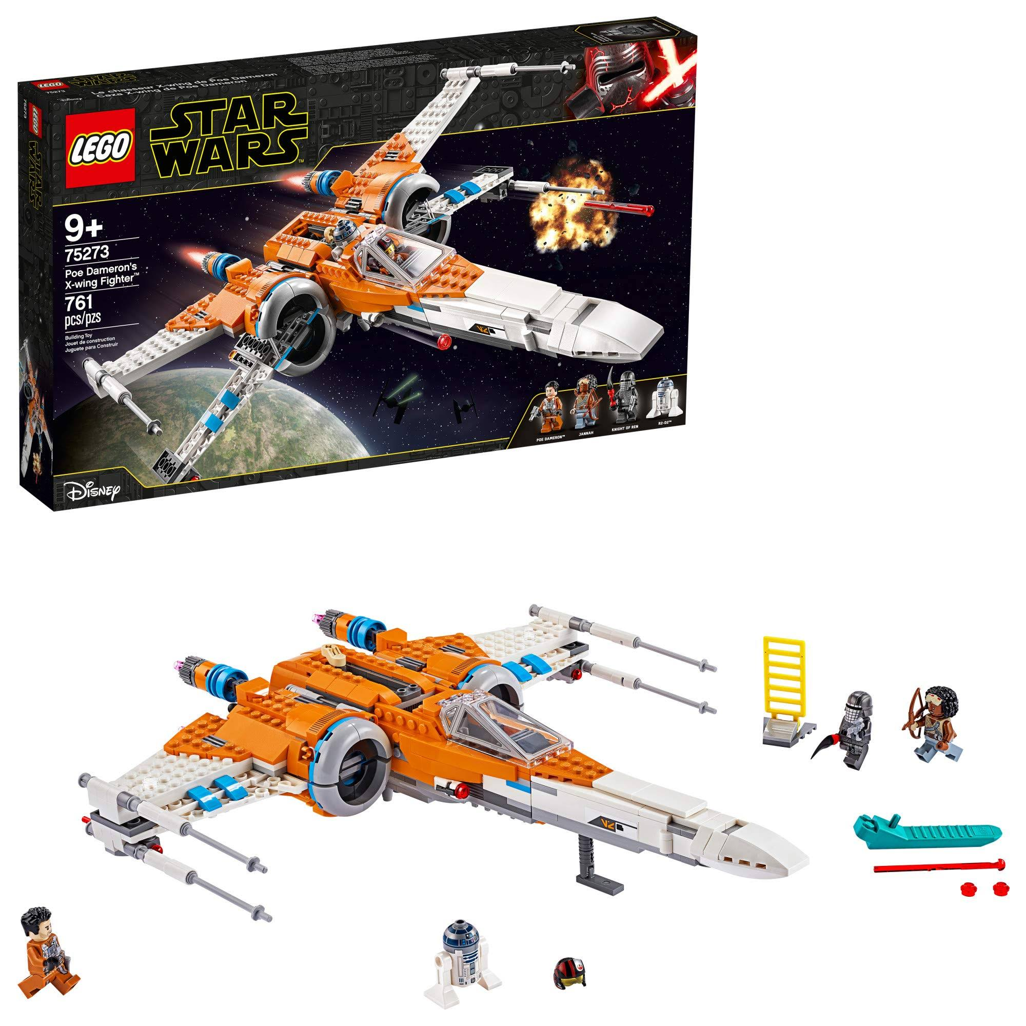 Lego Star Wars Poe Dameron's X Wing Fighter Building Toy - 761pcs