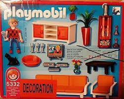 4 x playmobil zimmer einrichtungs sets kinderzimmer