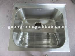 stainless steel laundry sink with washboard befon for