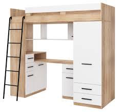 hochbett smyk l etagenbett schlafzimmer sets schreibtisch kleiderschrank regal sonoma eiche weiß