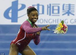 Simone Biles Floor Routine 2014 by Simone Biles Has A Sting In Her Tail After Bee Flies Out From