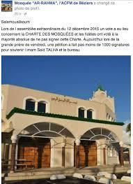 bureau de change beziers trois mosquées de béziers refusent de signer la charte de la