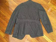 Vintage 1930s 1940s Belted Back Gray Check Sports Jacket Action Fancy